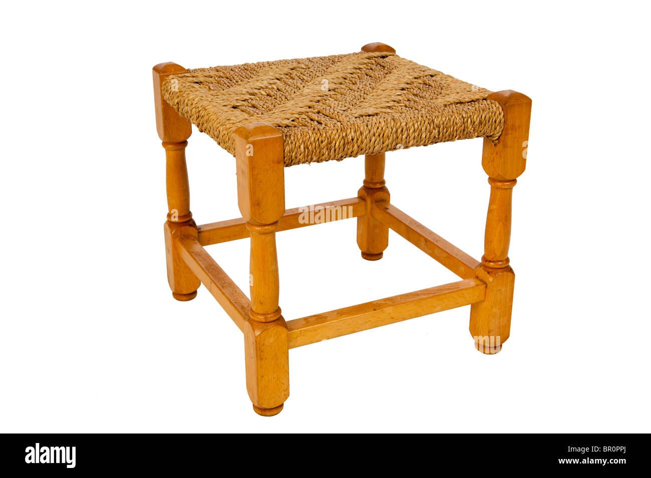 Strange Childrens Furniture Childs Beech Rush Seated Wooden Stool Short Links Chair Design For Home Short Linksinfo