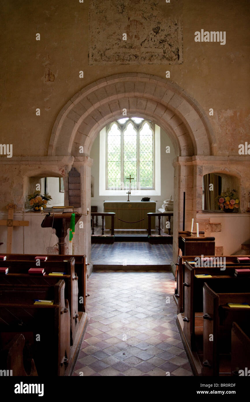 St James church, Upper Wield, Hampshire, England. - Stock Image