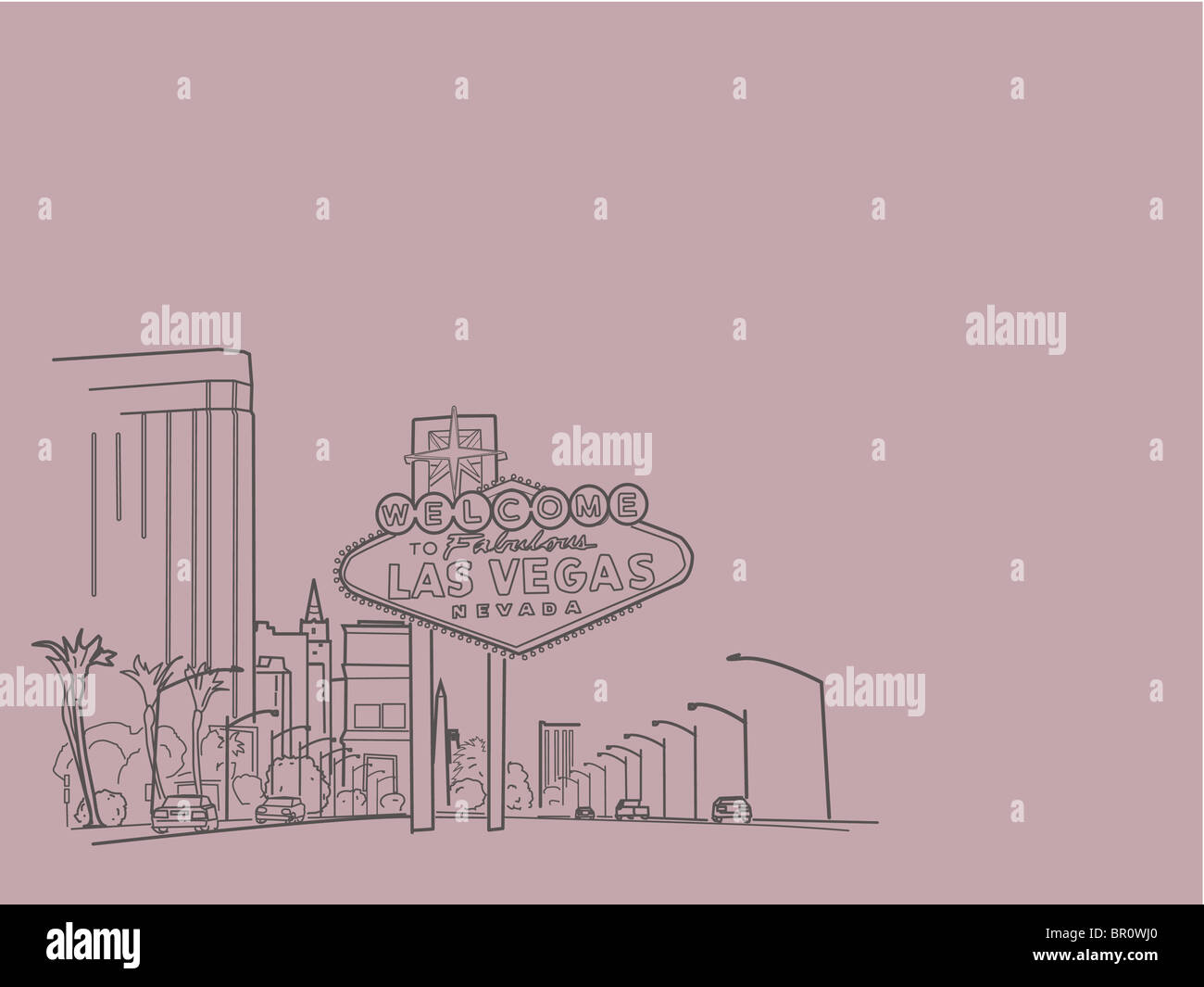 An illustration of city of Las vegas - Stock Image