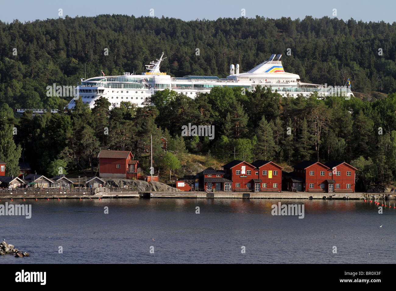 Birka Paradise Cruise Ship in the Stockholm Archipelago in Stockholm, Sweden - Stock Image