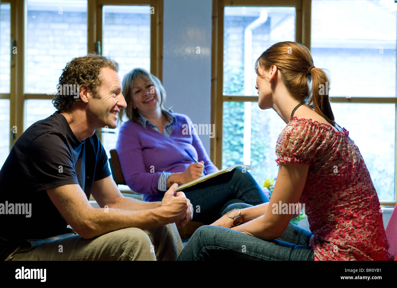 Couple having marriage guidance counselling - Stock Image