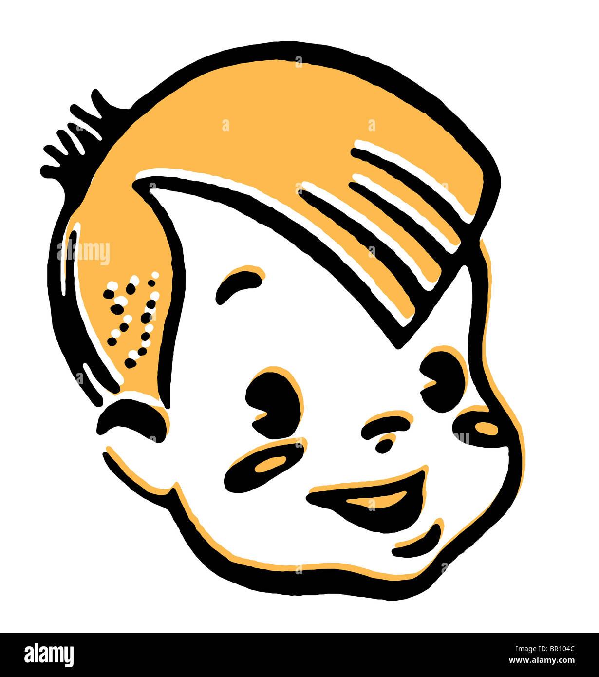 Portrait of boy smiling - Stock Image