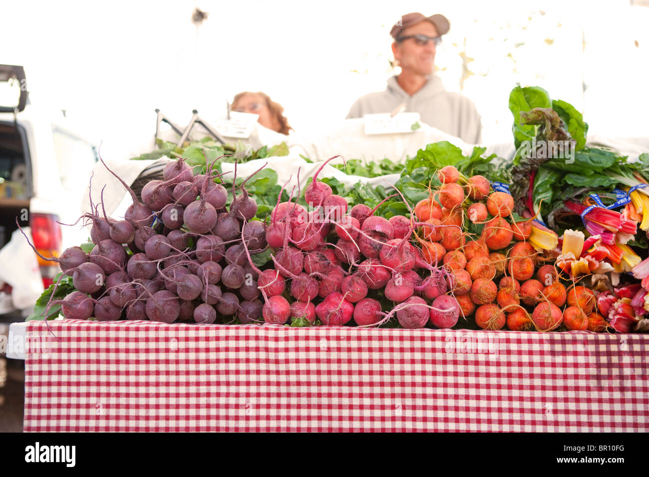 Fresh Beets Beats At Farmers Market Santa Fe New Mexico Stock