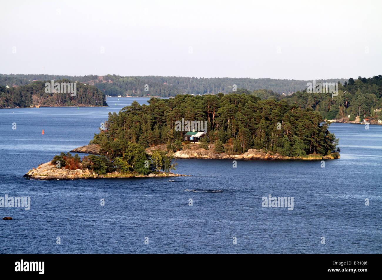 Islands in the Stockholm Archipelago in Stockholm, Sweden - Stock Image
