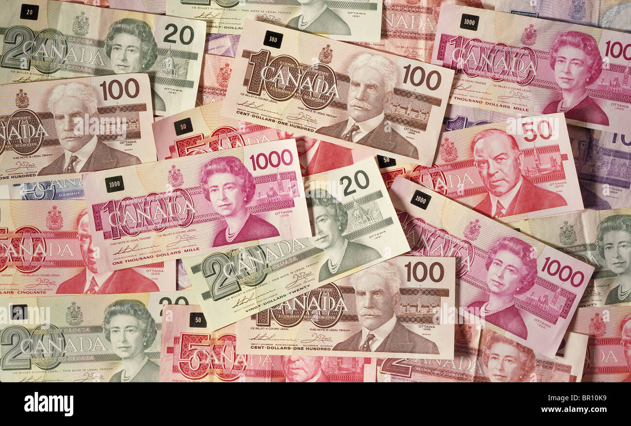 Canadian One Hundred Dollar Currency Bank Stock Photos