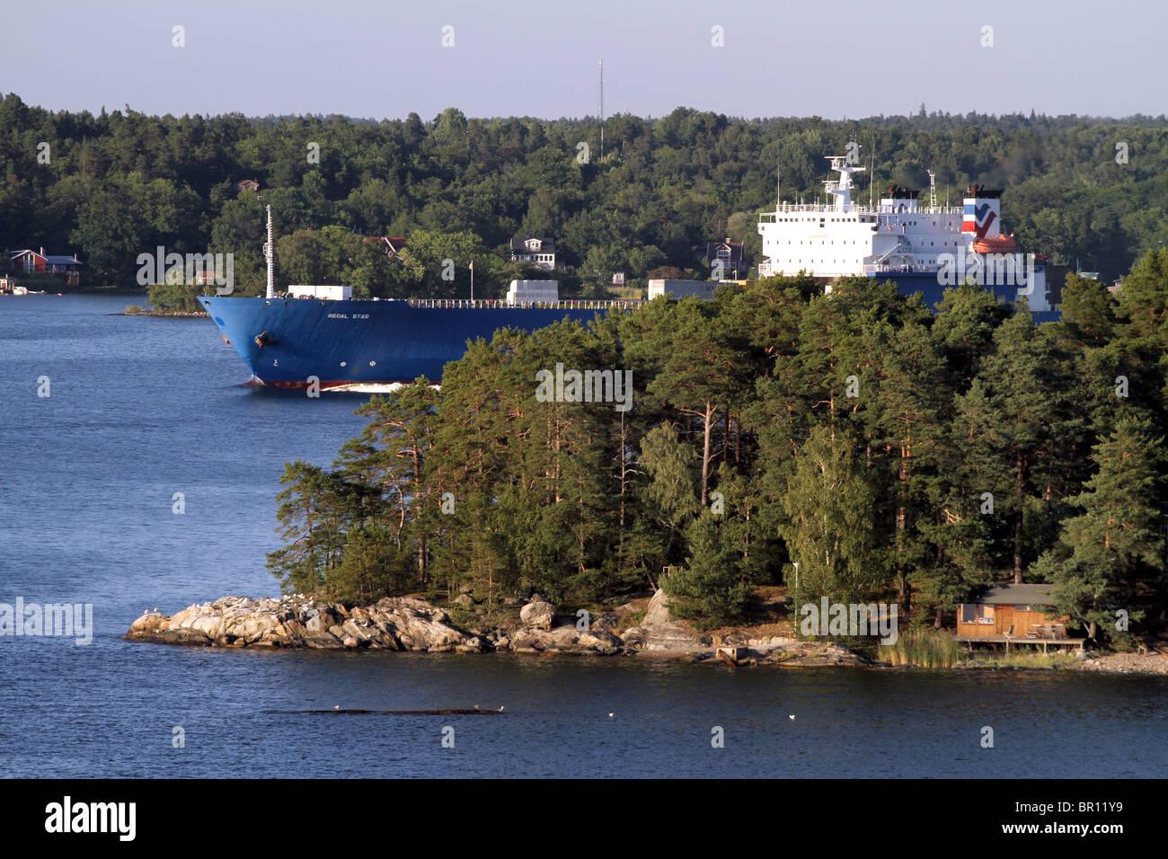 The Stockholm Archipelago in Stockholm, Sweden - Stock Image