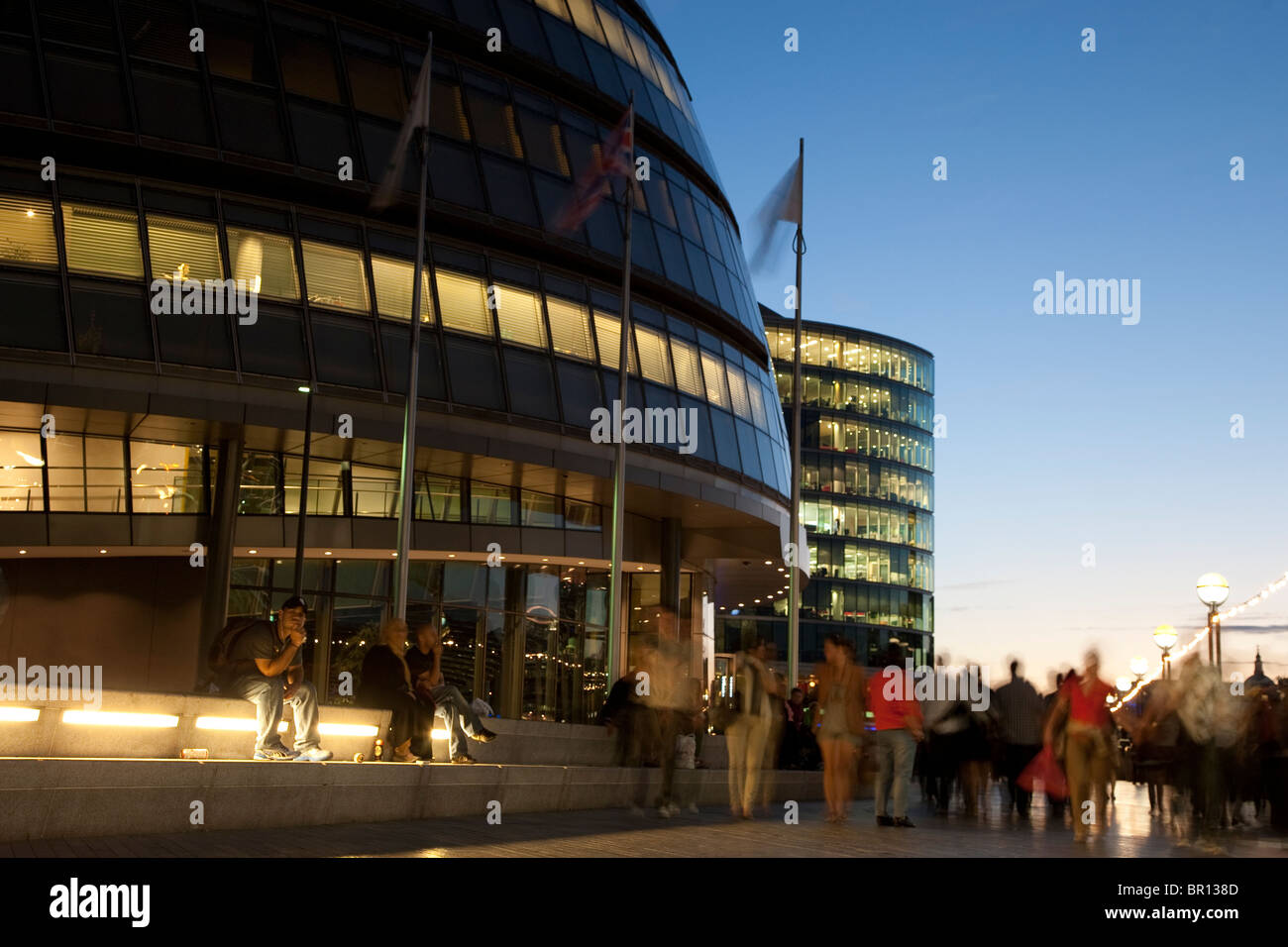 City Hall, GLA on the South Bank of the River Thames, London - Stock Image