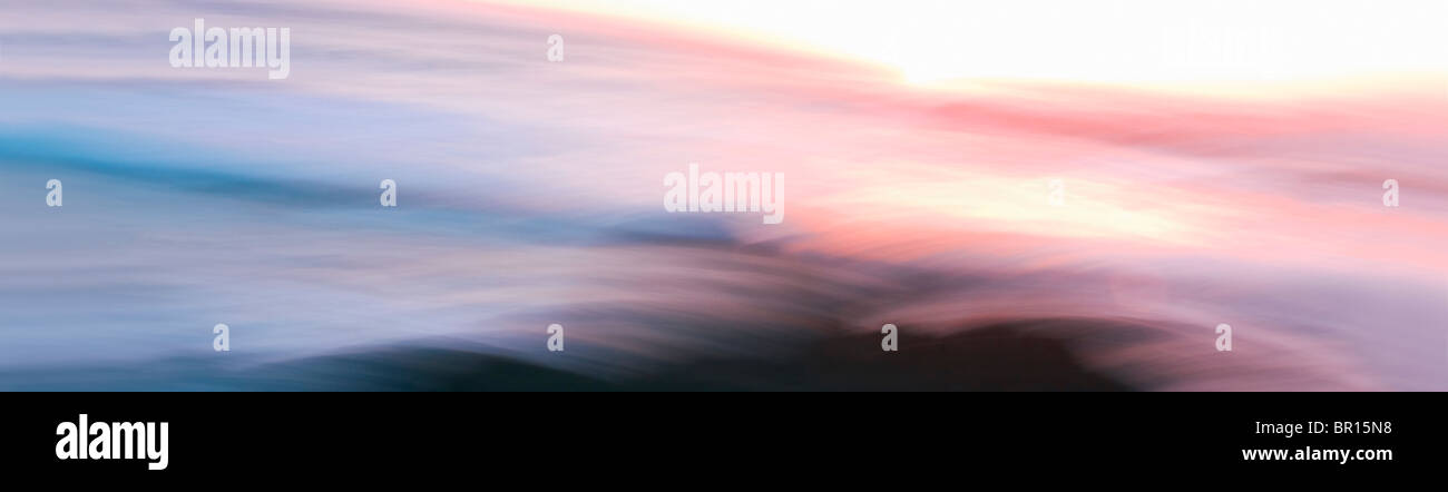 Abstract Ocean Sunset - Stock Image