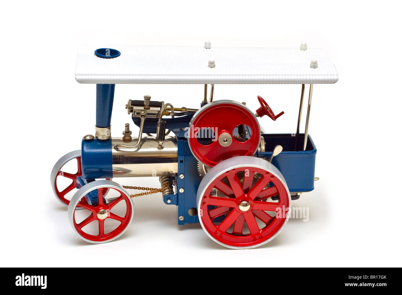 Model steam traction engine - Stock Image