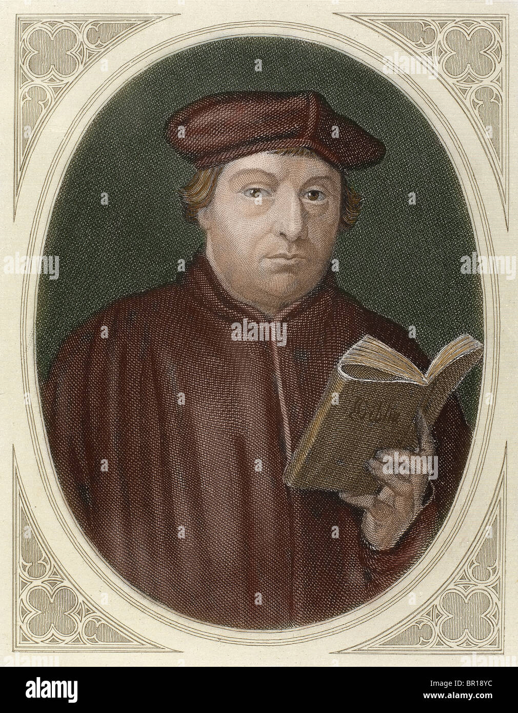 Martin Luther, (1483-1546). German reformer. Doctor of Theology and Augustinian priest. - Stock Image