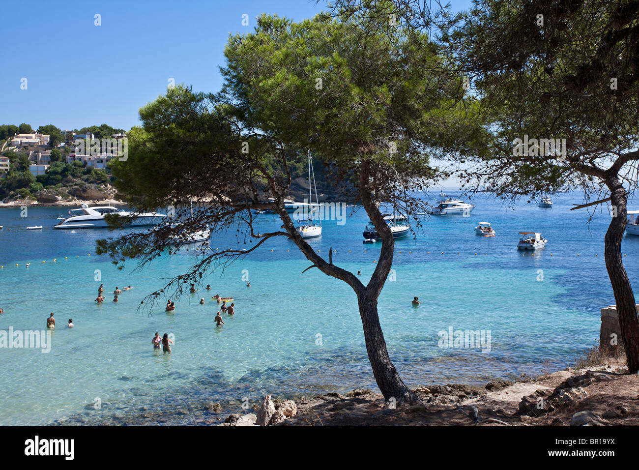 Portals Vells beach. Mallorca Island. Spain - Stock Image