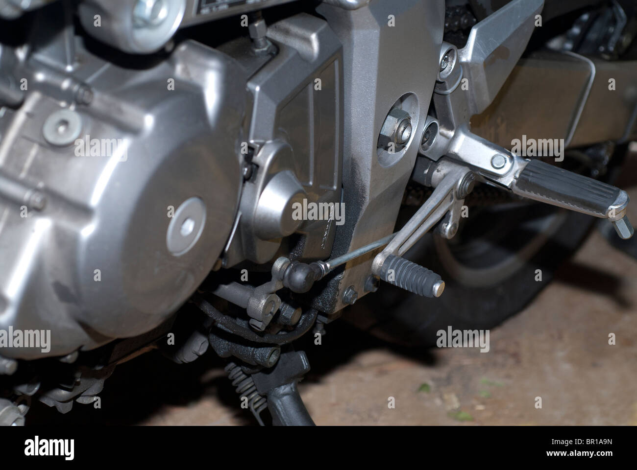 Motorcycle Gear Lever - Stock Image