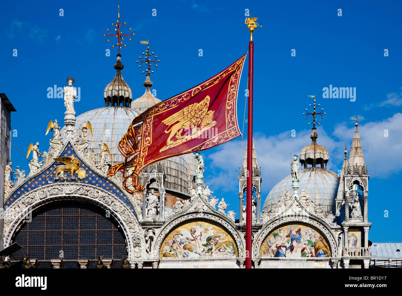 Roof of the basilica at San Marco Square, Venice, Italy - Stock Image