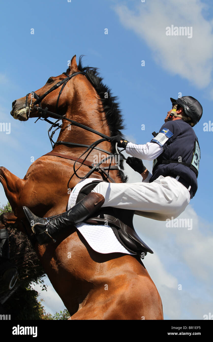 William Fox-Pitt on Gaucho: Barbury Horse Trials, 2010 - Stock Image