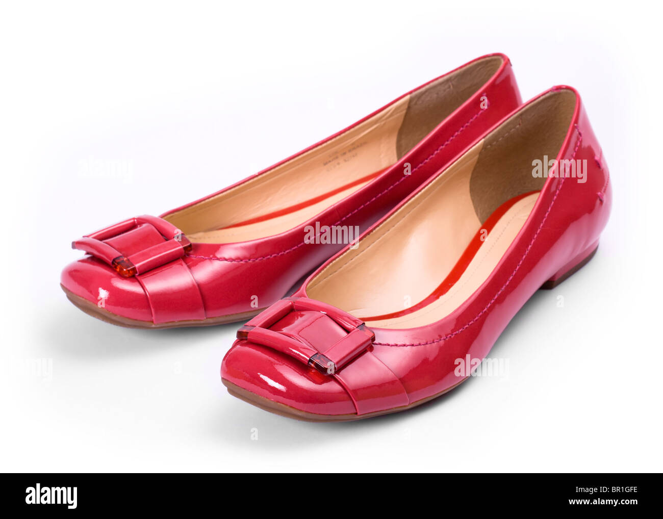 Red shoes - Stock Image