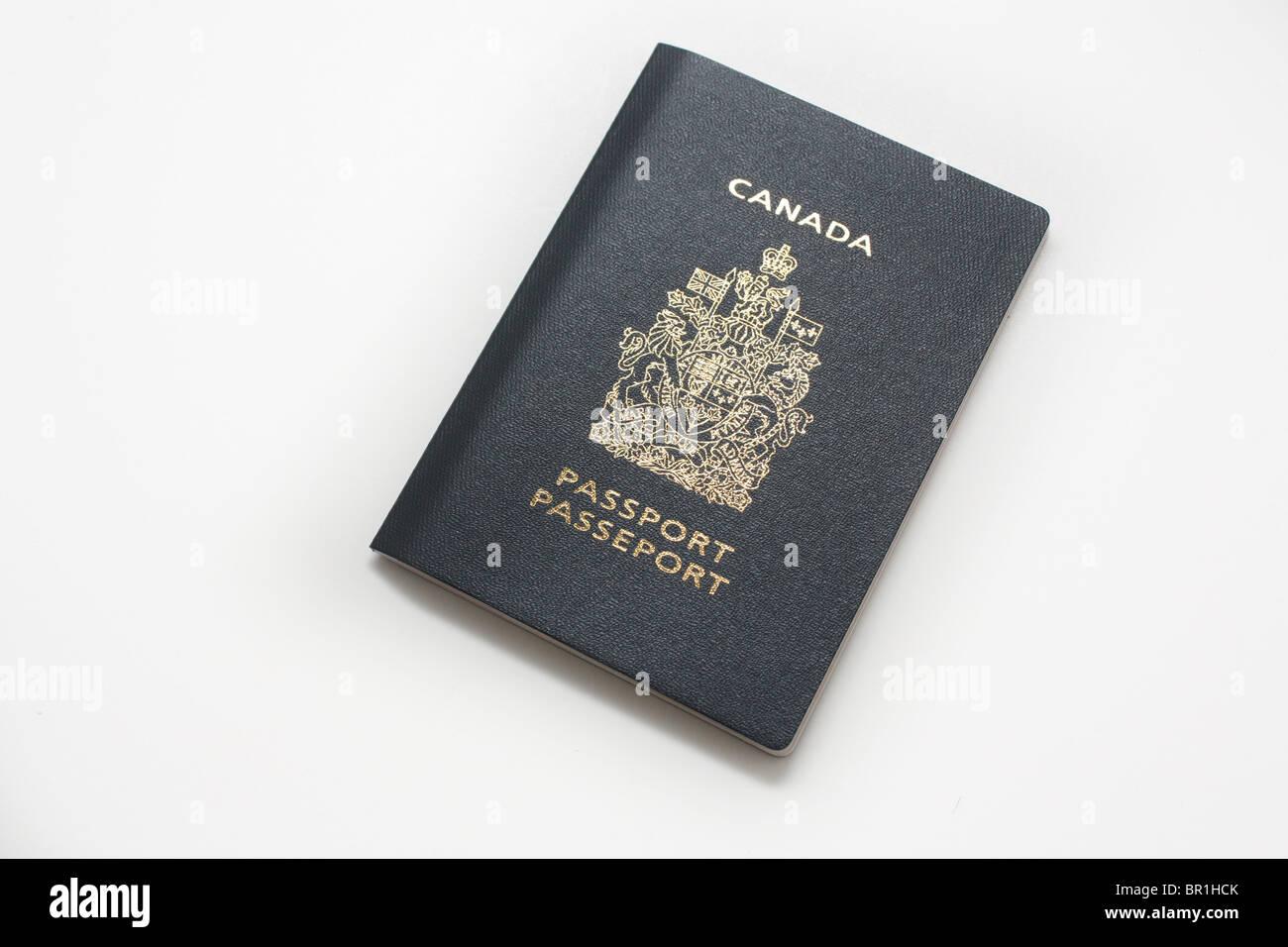 canada canadian passport travel document - Stock Image