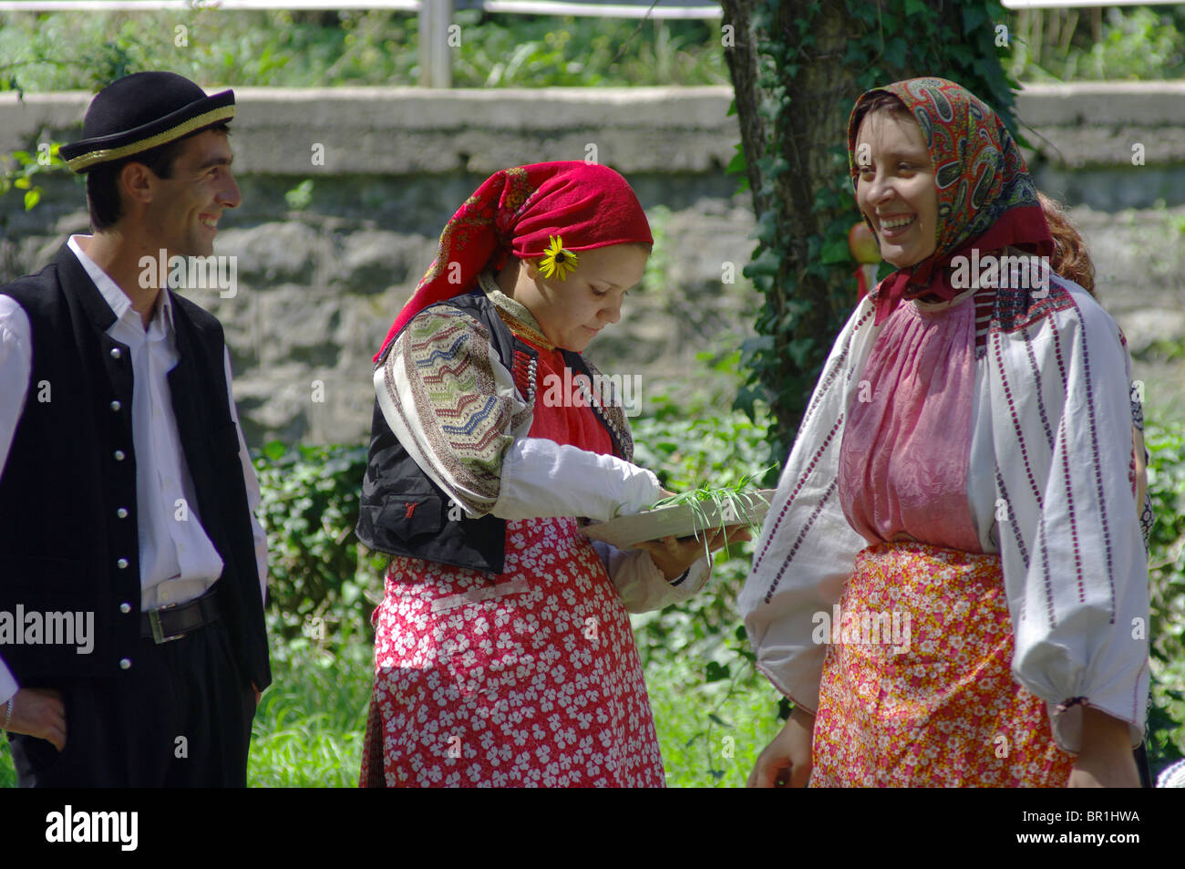 Wedding customs of the village of Banat Bulgarians Bardarski Geran Stock Photo