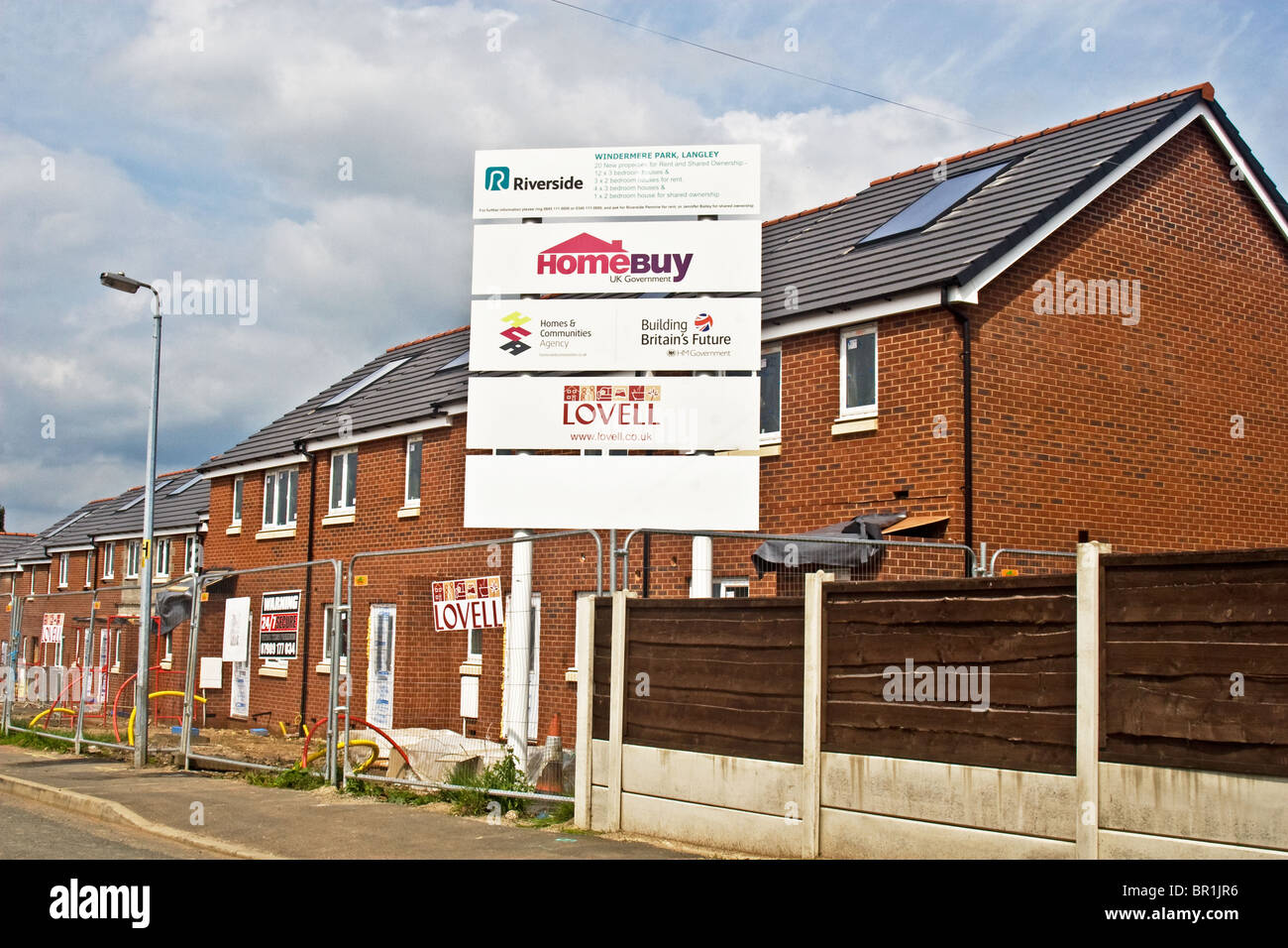 New affordable properties for rent & shared ownership on Langley estate (orig. Manchester overspill) Middleton, - Stock Image