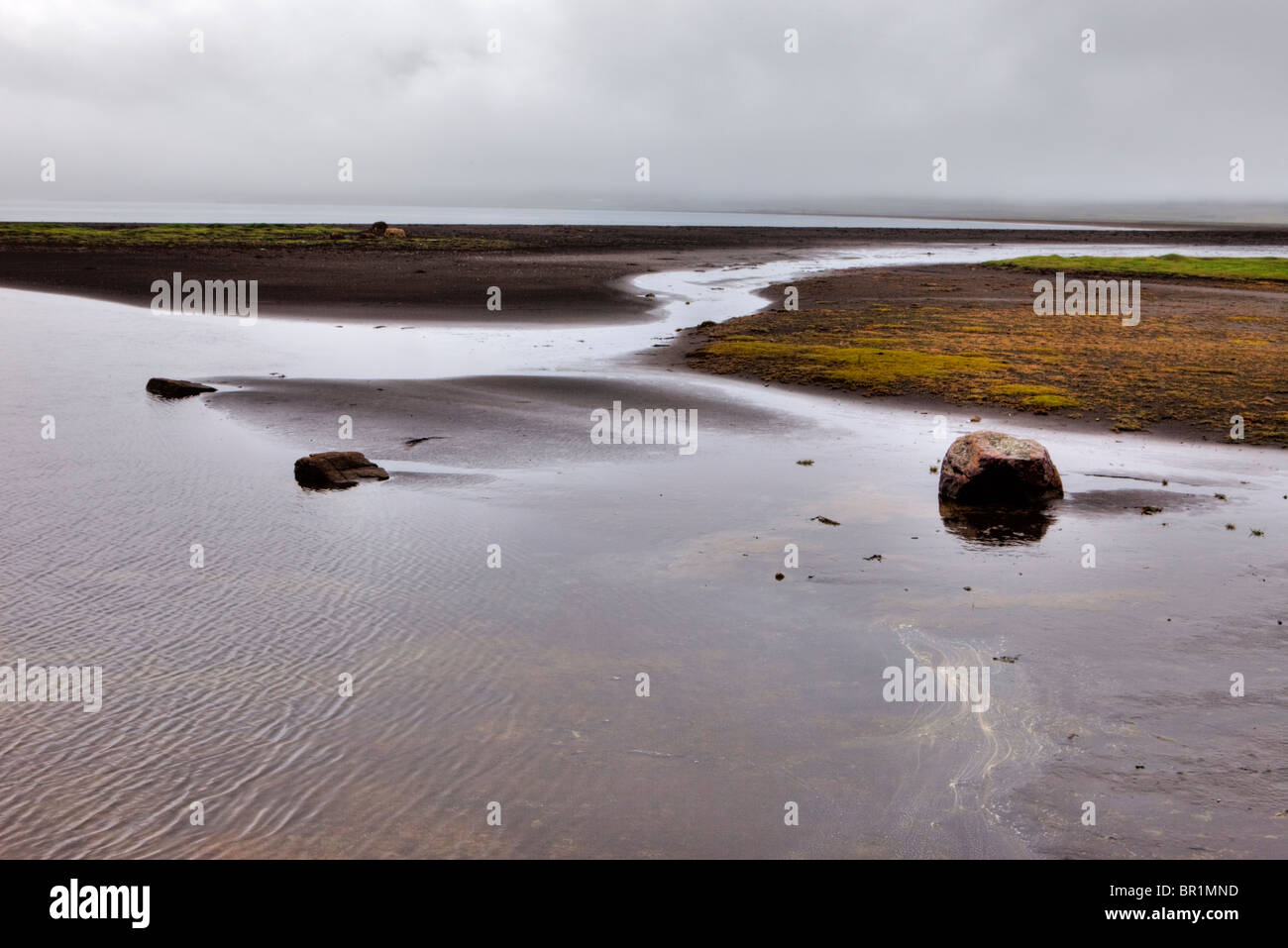 East Fjords, Iceland - Stock Image