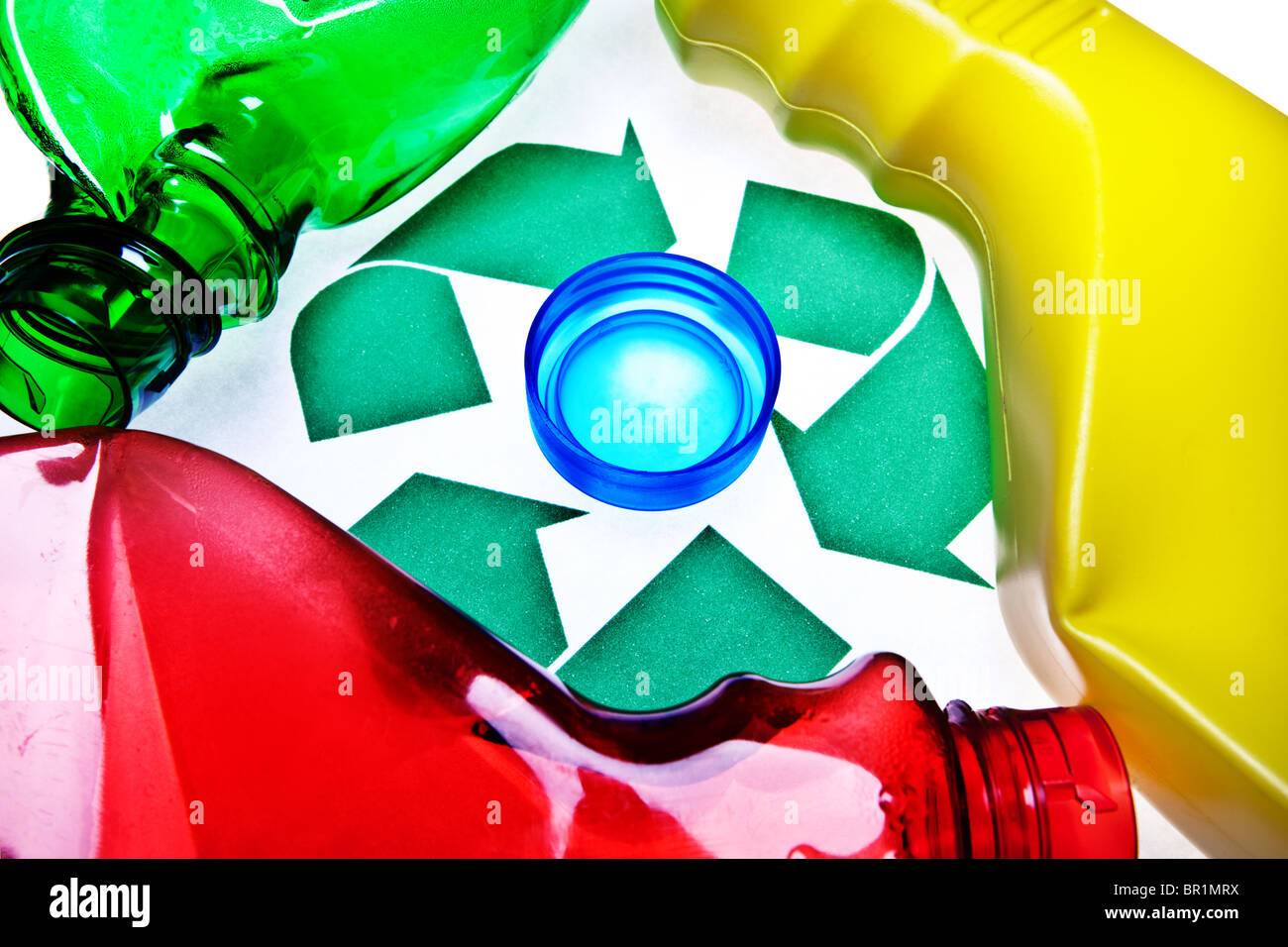 Recycle plastics - Stock Image