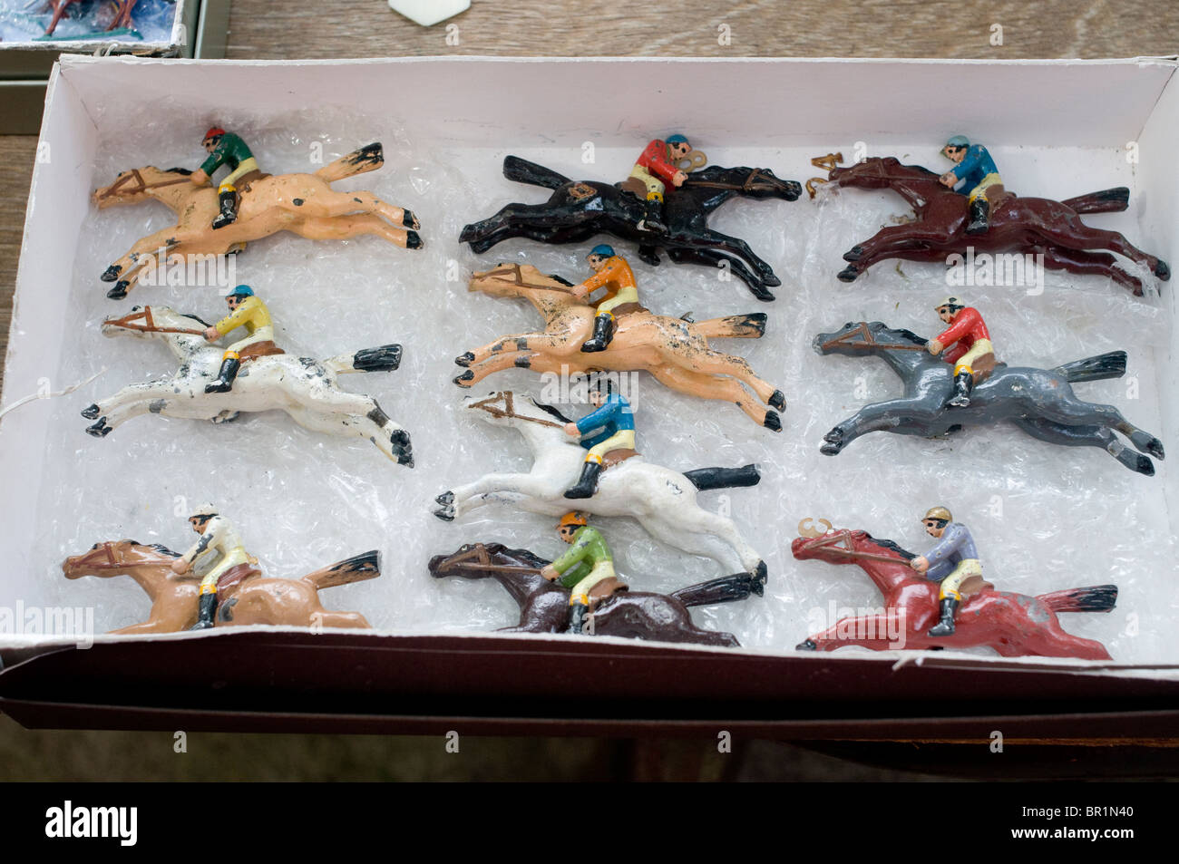 race track toys in a box - Stock Image