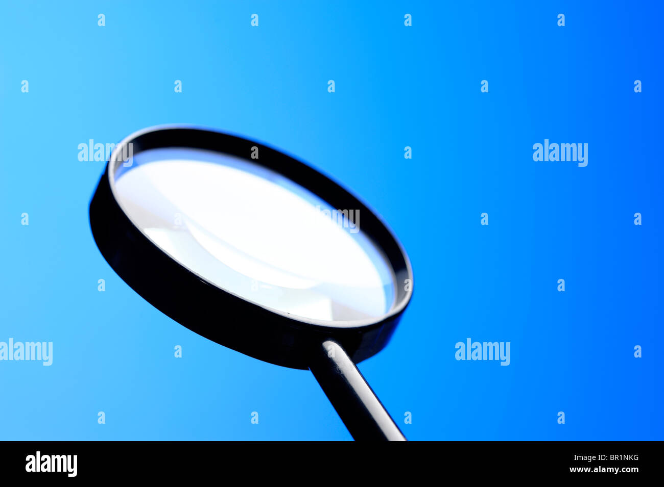 Magnifying glass lens - Stock Image