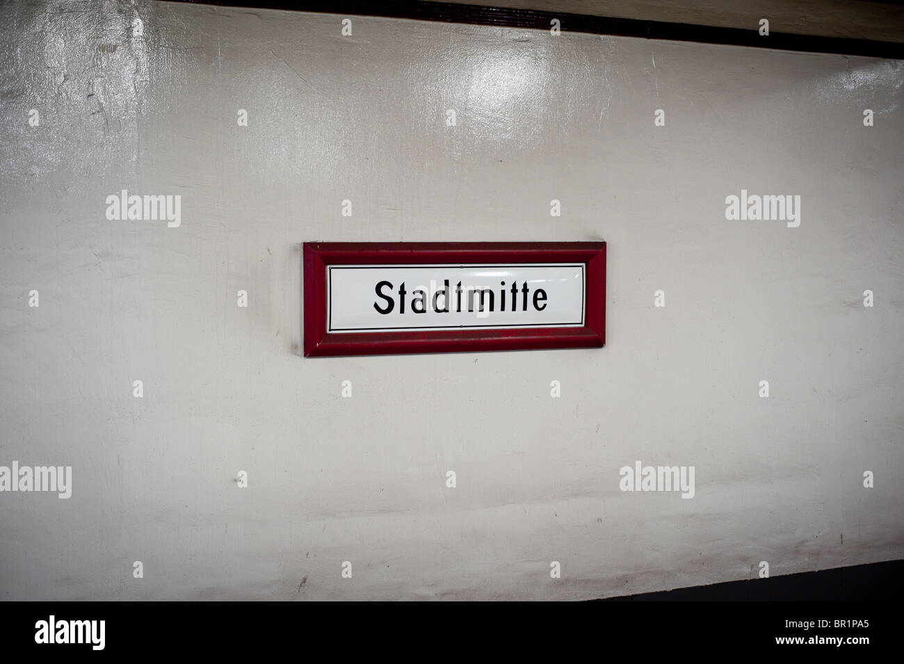 Stadtmitte Subway sign - Stock Image