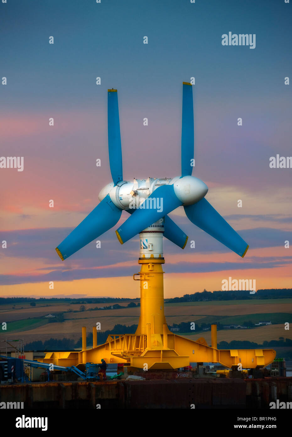 Atlantis unveiled the world's largest and most powerful single axis tidal turbine, the AK1000™, at Invergordon in - Stock Image