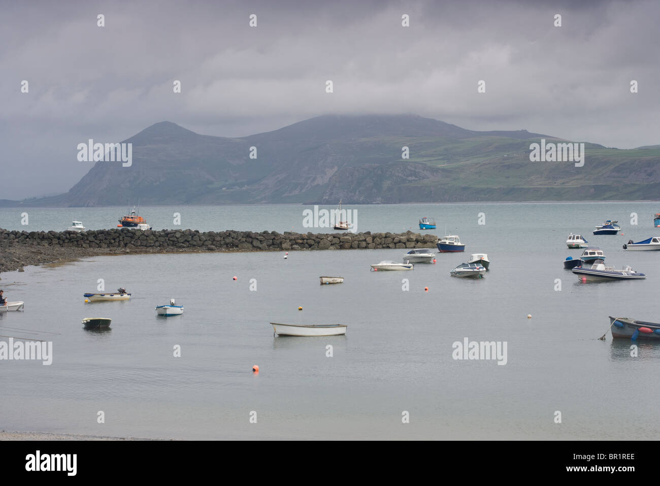 Nefyn, view from Ty Coch inn, Llyn or Lleyn Peninsular Wales - Stock Image