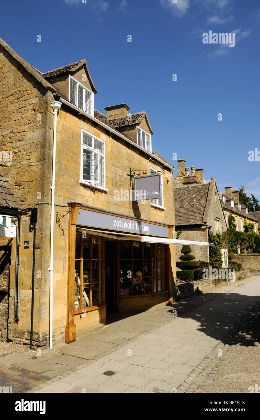 Broadway High Street The Cotswolds - Stock Image