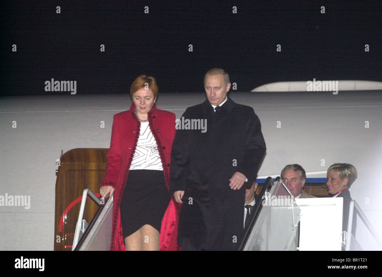 Vladimir Putin arrives at Andrews Airforce Base, - Stock Image