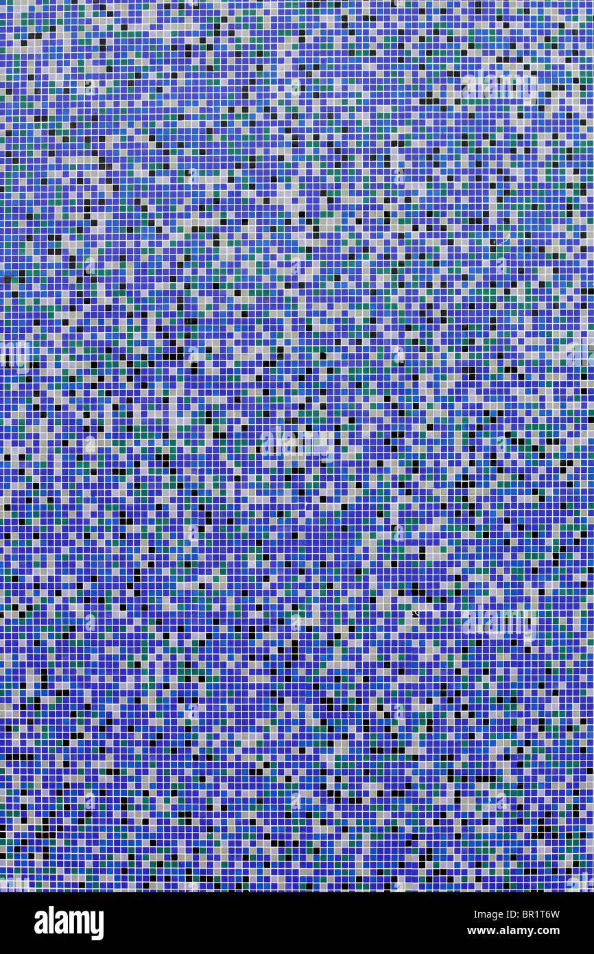 mosaic wall - Stock Image