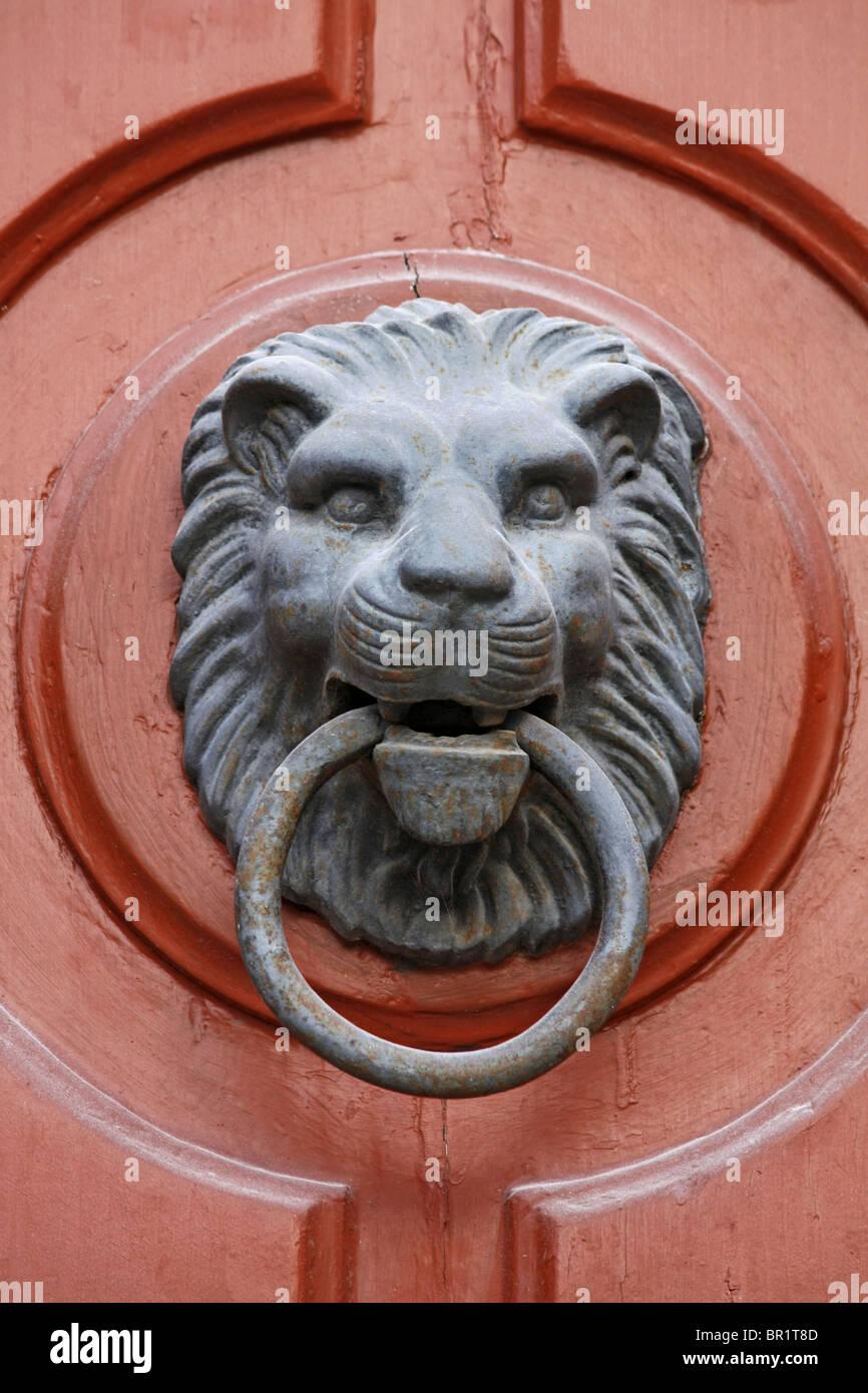 lion knocker - Stock Image
