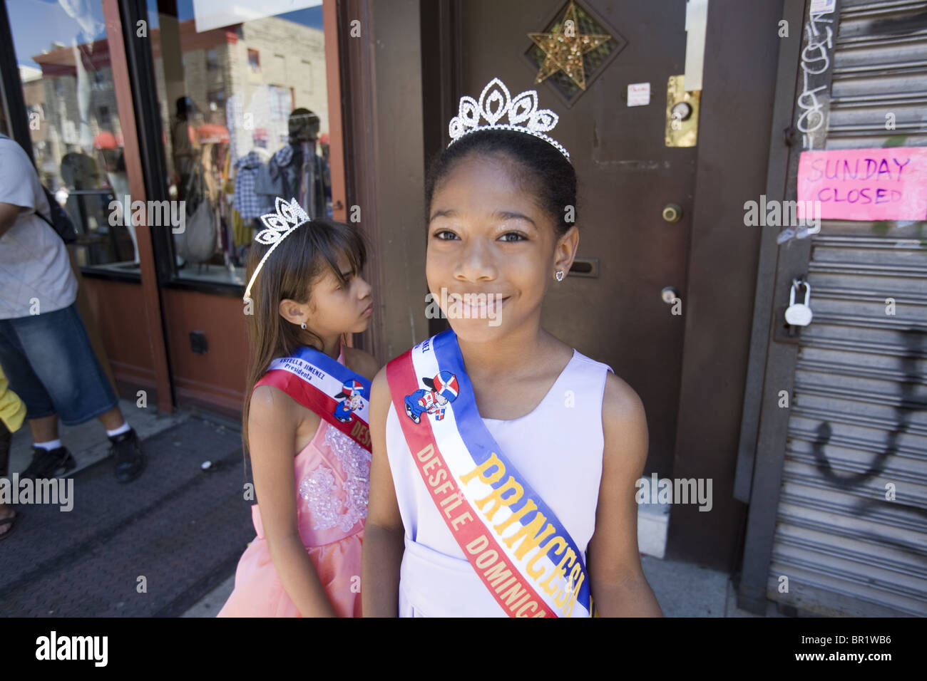 Official princesses at the 2010 Dominican Parade in Brooklyn, NY. - Stock Image