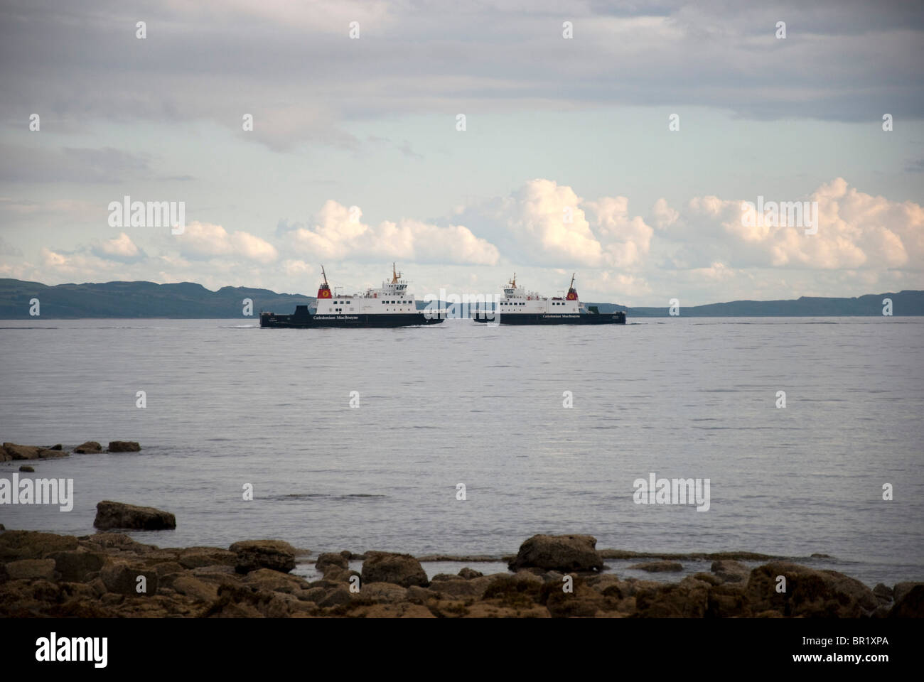 M. V. Argyle & Bute Passing in the Clyde Estuary between Rothesay & Wemyss Bay Scotland - Stock Image