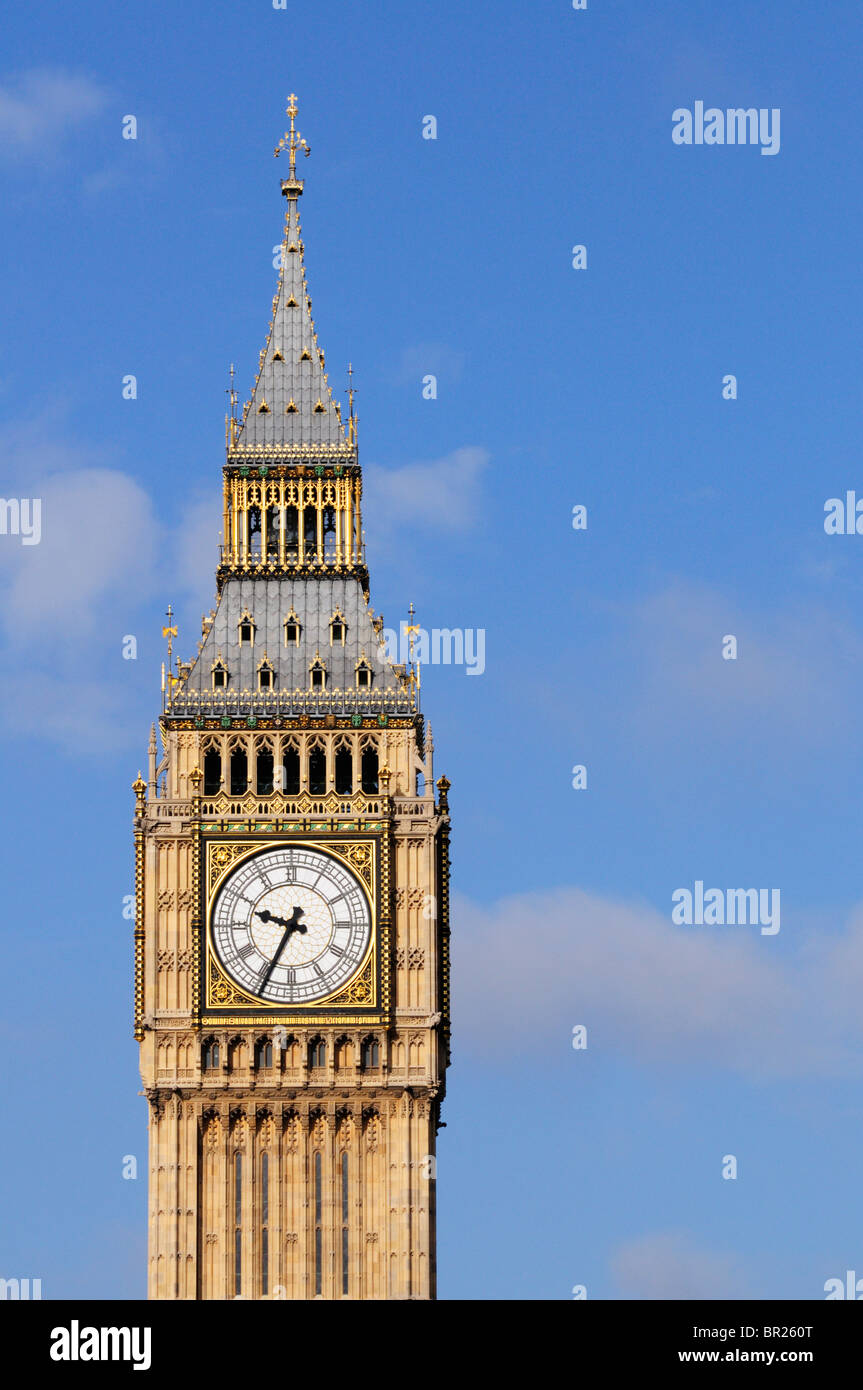 Big Ben, The Clock Tower of The Palace of Westminster, London, England, UK - Stock Image