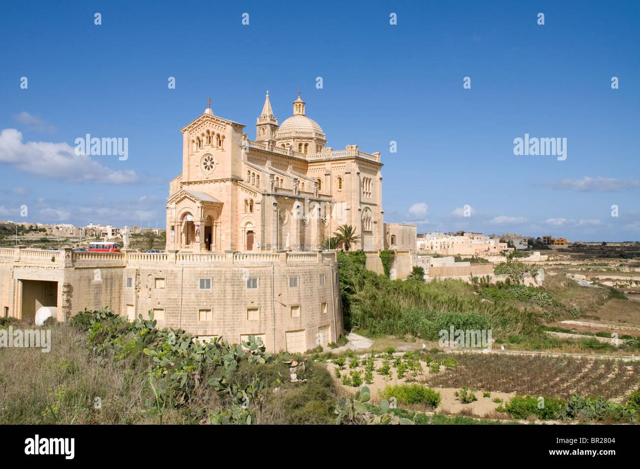 Ta Pinu Church and shrine Gozo Malta Stock Photo