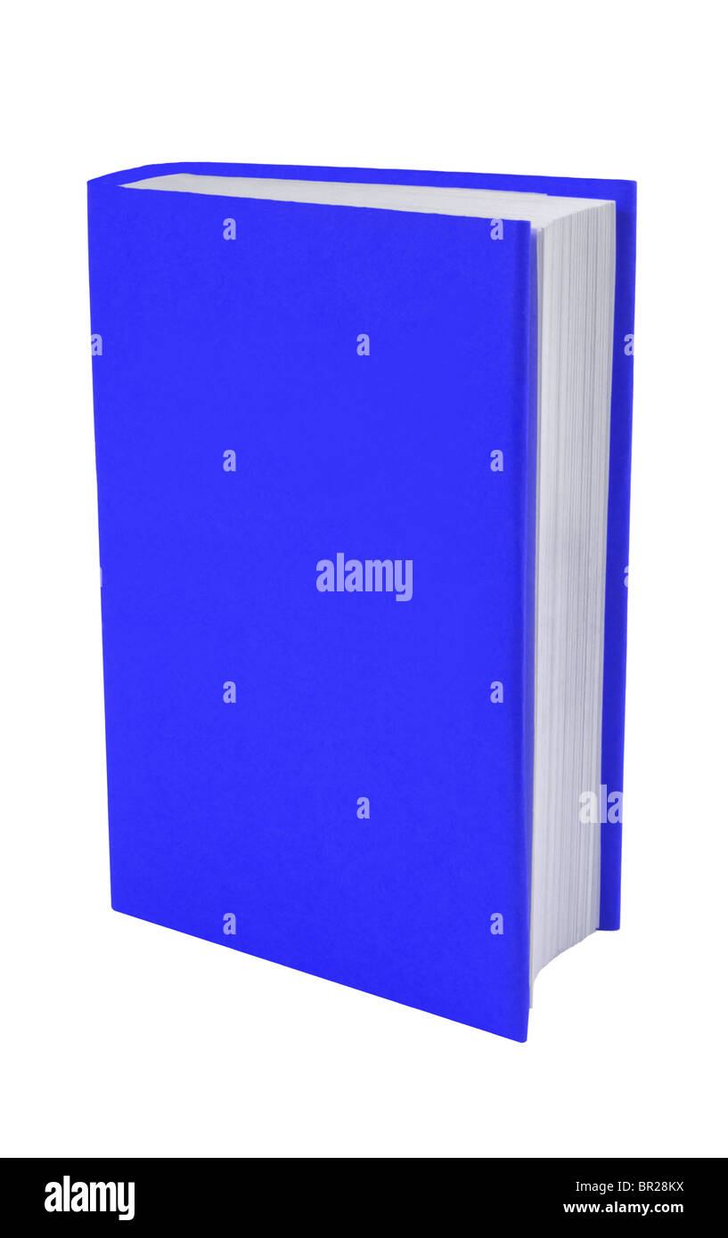 Blank book with blue cover - Stock Image
