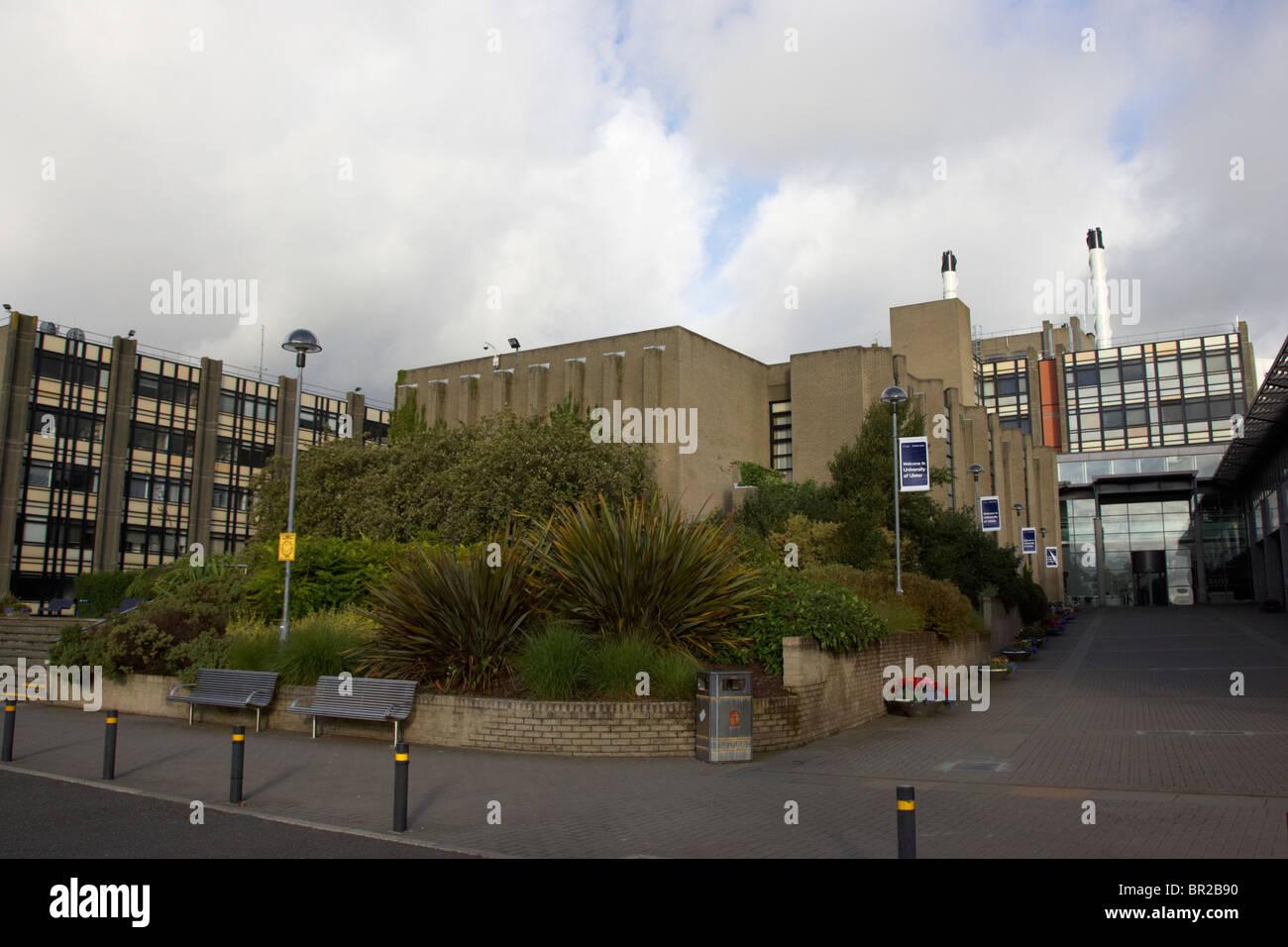 main building of the University of Ulster Jordanstown Campus Northern Ireland uk - Stock Image