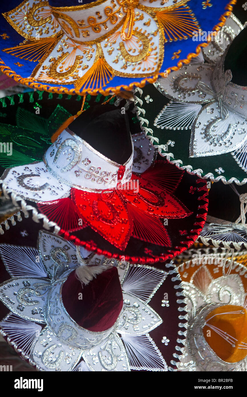Sombreros for sale in Mexico Stock Photo
