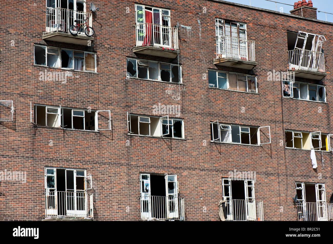 Housing estate destined for regeneration, Hackney, London, United Kingdom - Stock Image