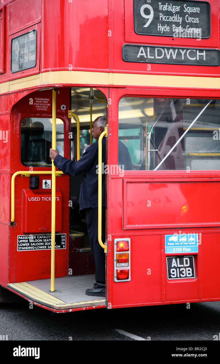 Rear of London routemaster bus - Stock Image