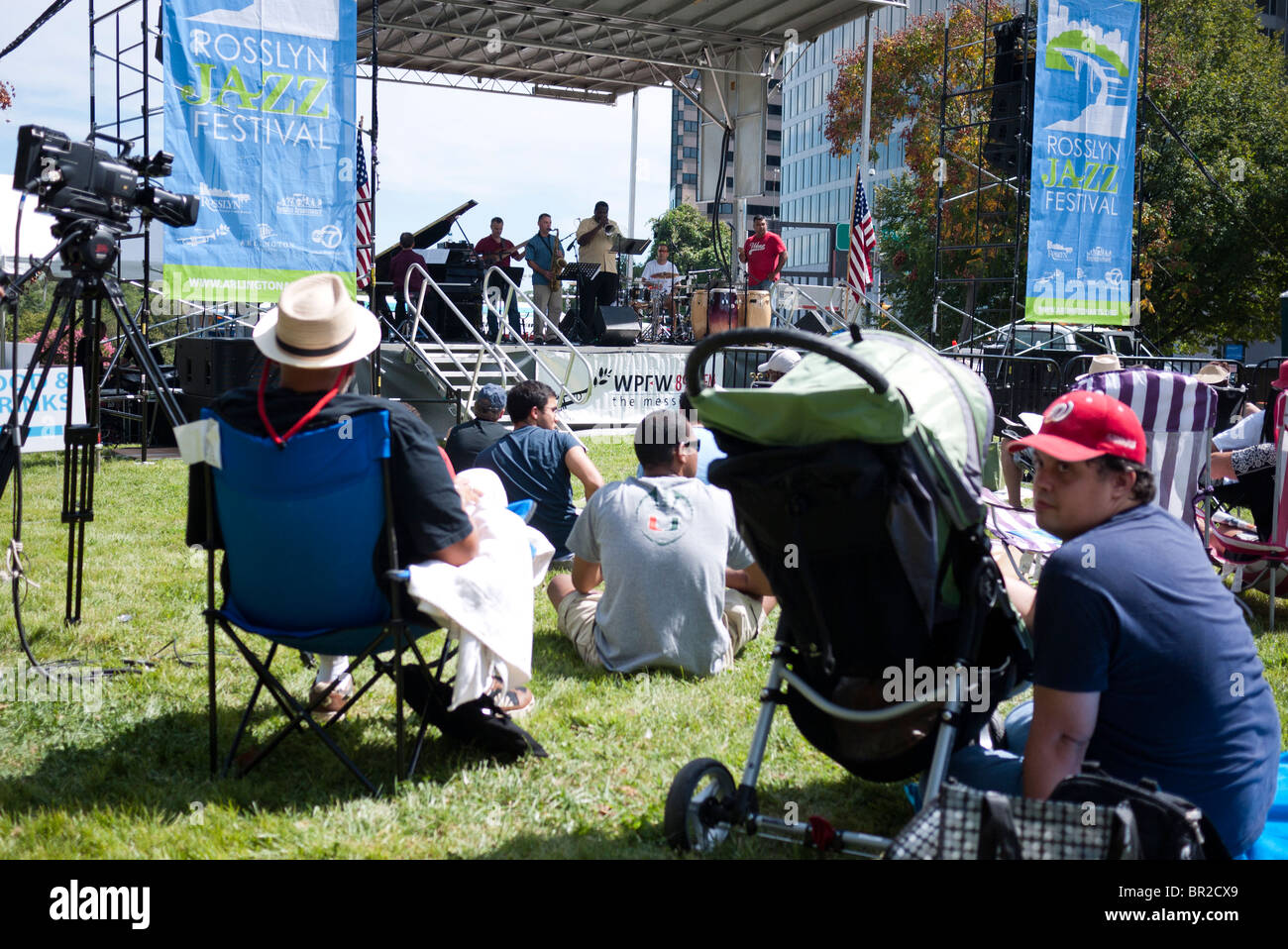 The 20th annual Rosslyn Jazz Festival (2010) in Rosslyn, a neighborhood of Arlington County very close to Georgetown - Stock Image