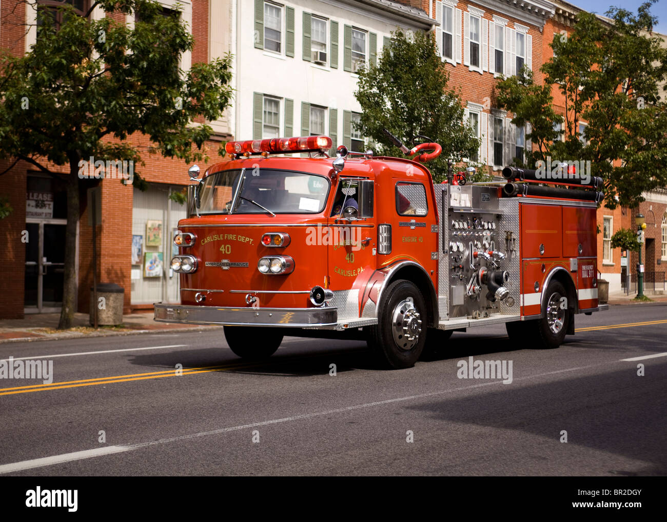 American LaFrance Vintage Fire Truck   Pennsylvania, USA   Stock Image