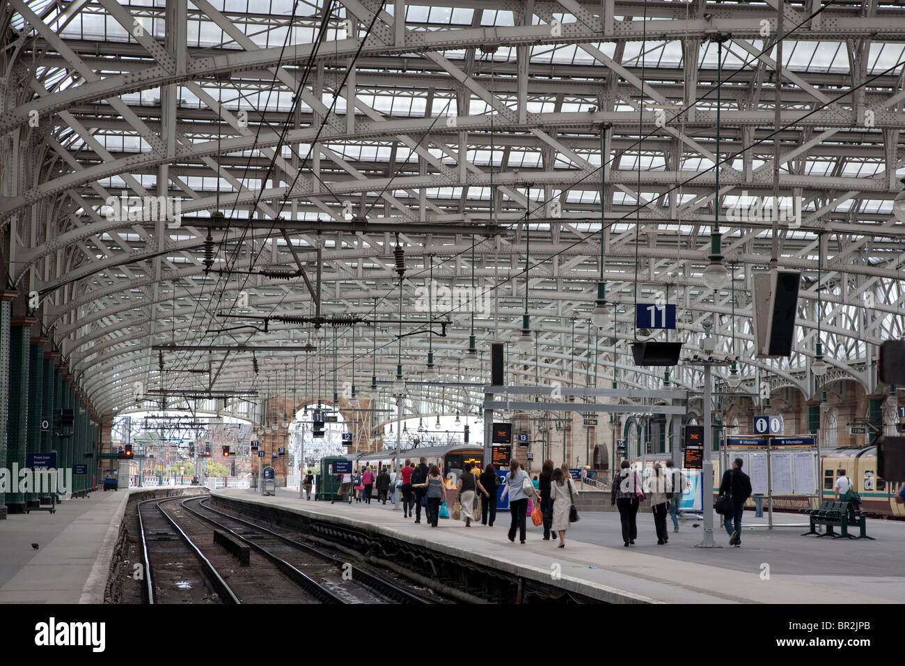 Interior of Glasgow Central Railway Station, Scotland - Stock Image