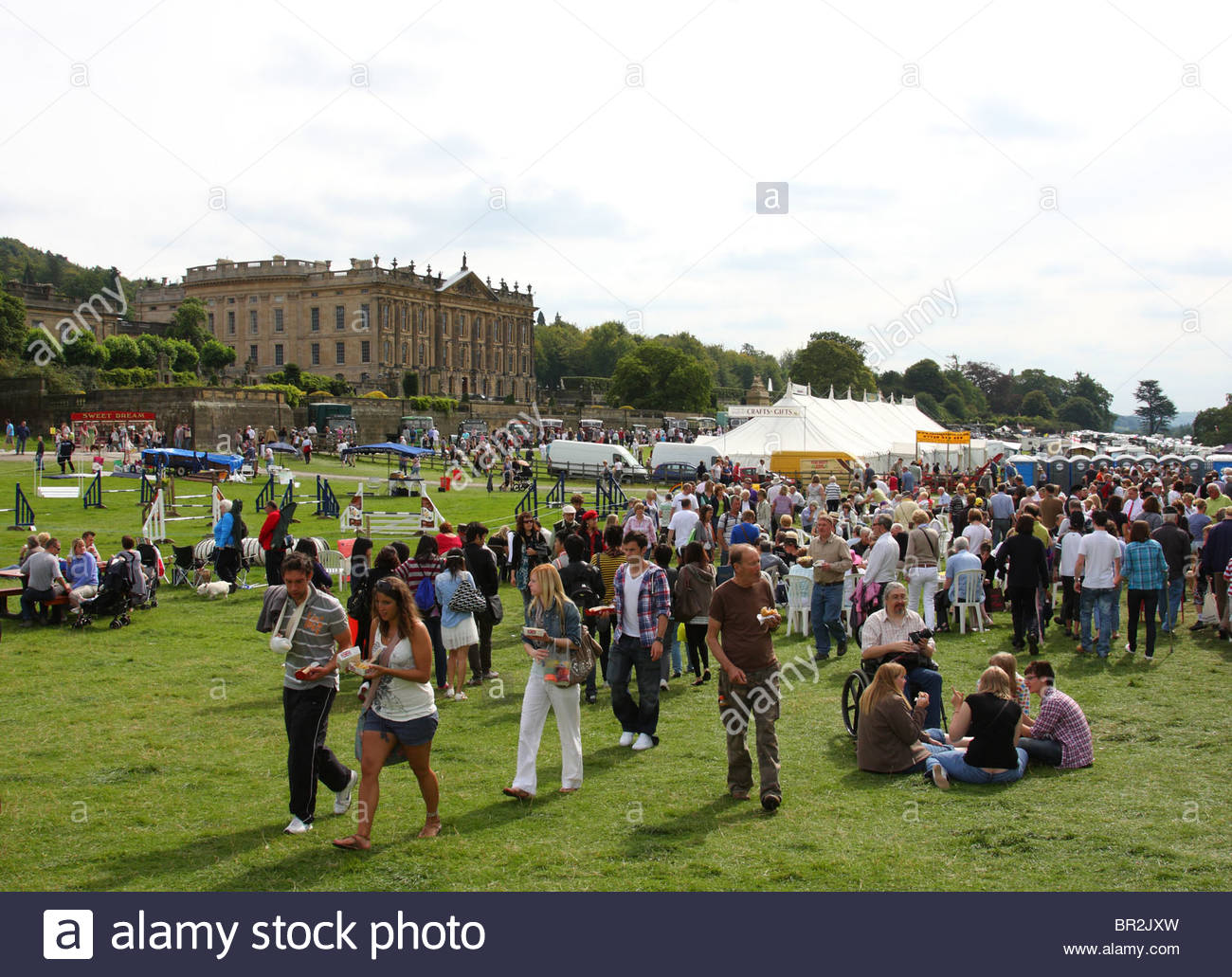 Visitors at the Chatsworth Game Fair, Chatsworth, Derbyshire, Engalnd, U.K. - Stock Image