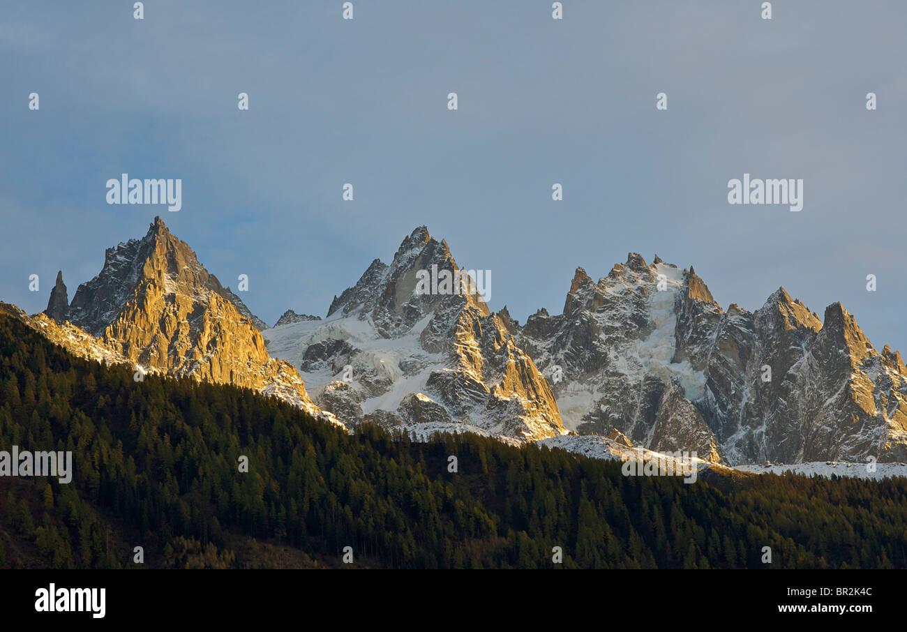 Aiguille des Pèlerins. Chamonix, The Alps, France - Stock Image
