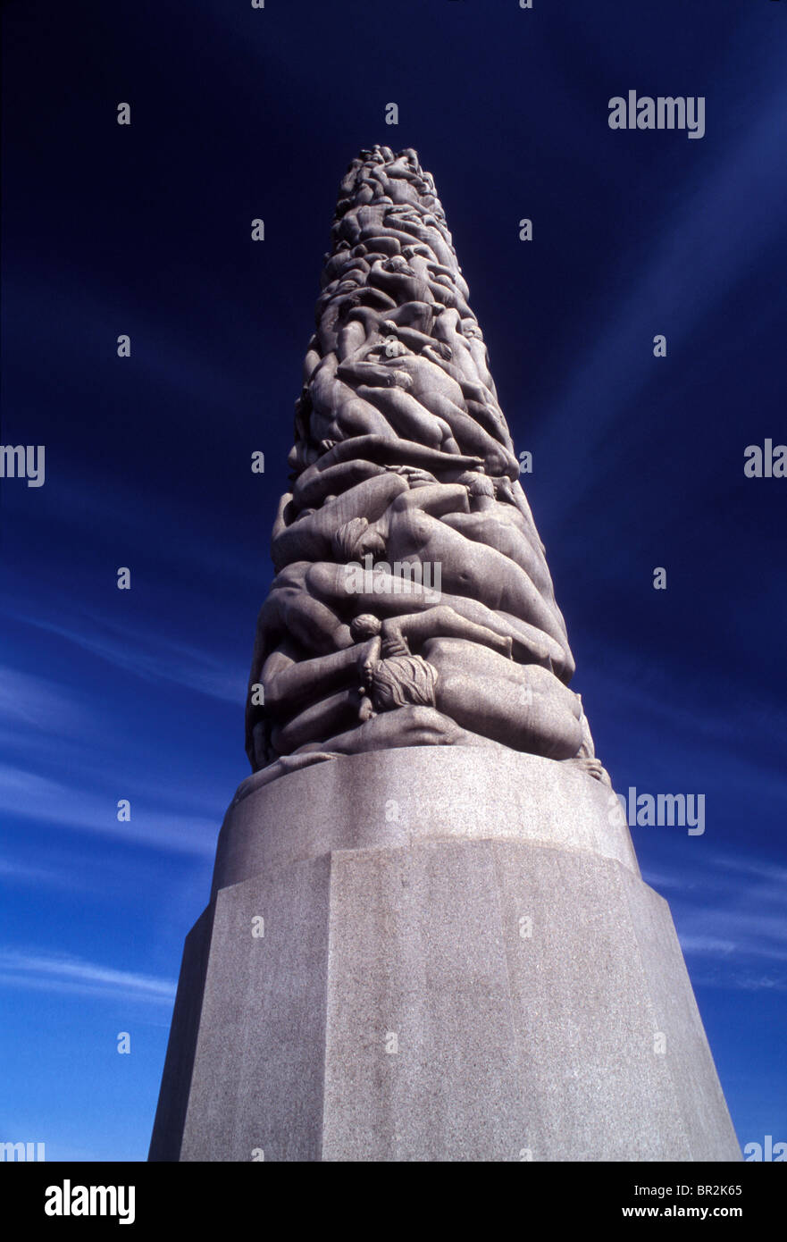 Vigeland park in Oslo, Norway - Stock Image