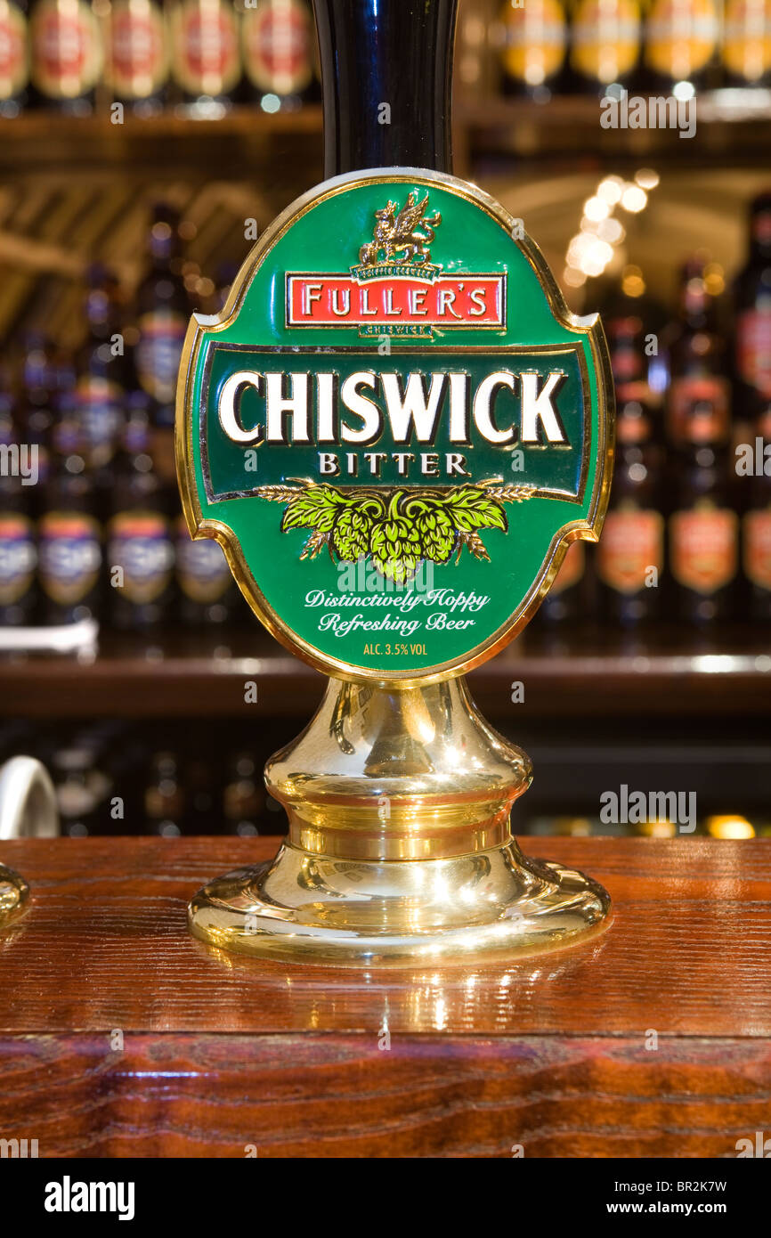Chiswick Beer Pump Fullers Griffin Brewery Chiswick London - Stock Image