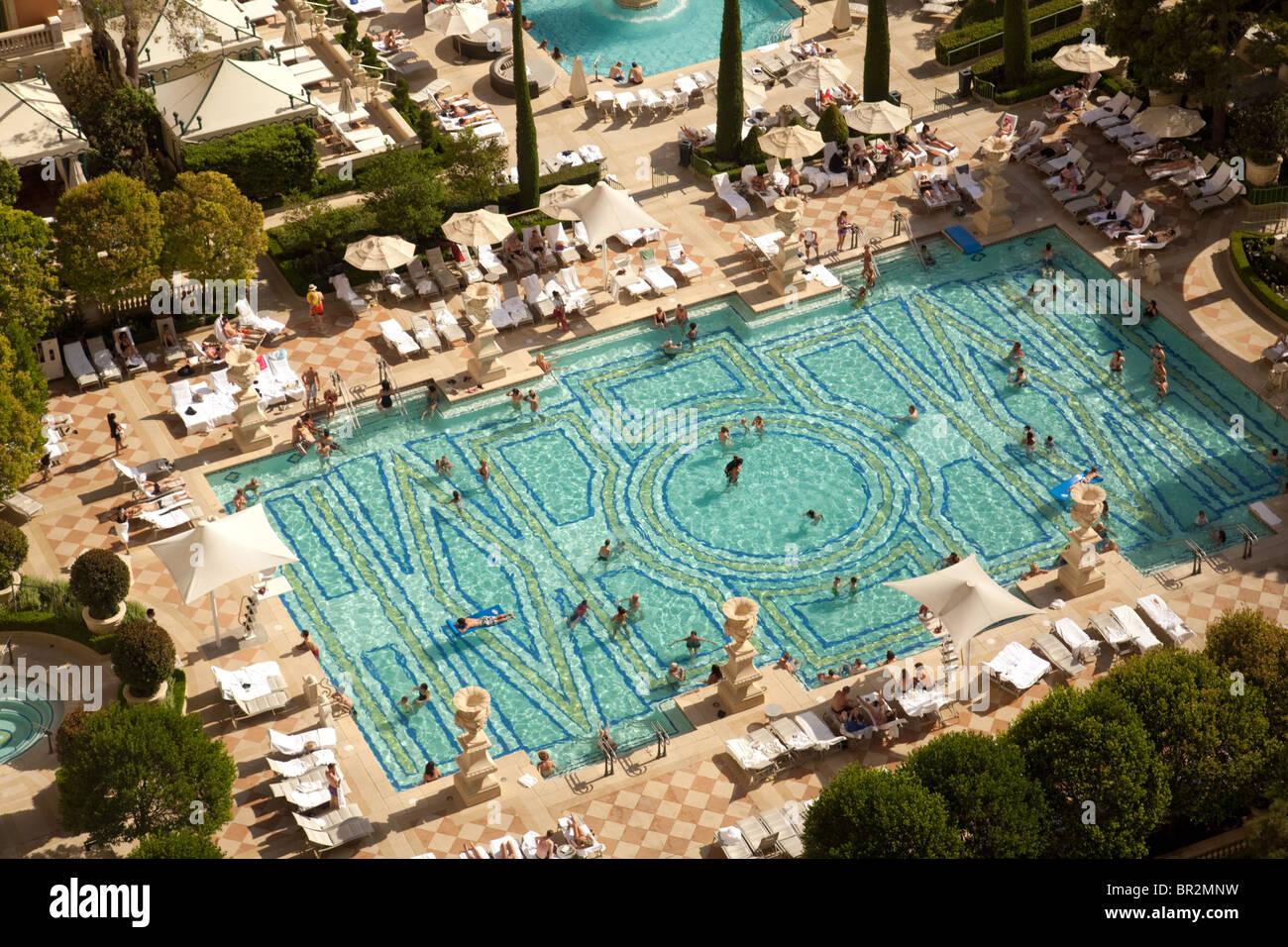 The Swimming Pools At The Bellagio Hotel Las Vegas Usa Stock Photo Alamy